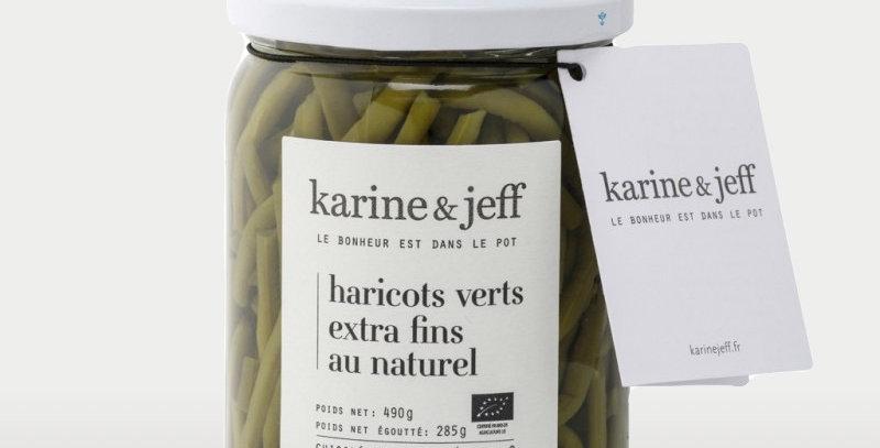 Haricots verts extra-fins au naturel - Karine & Jeff  - 490Gr