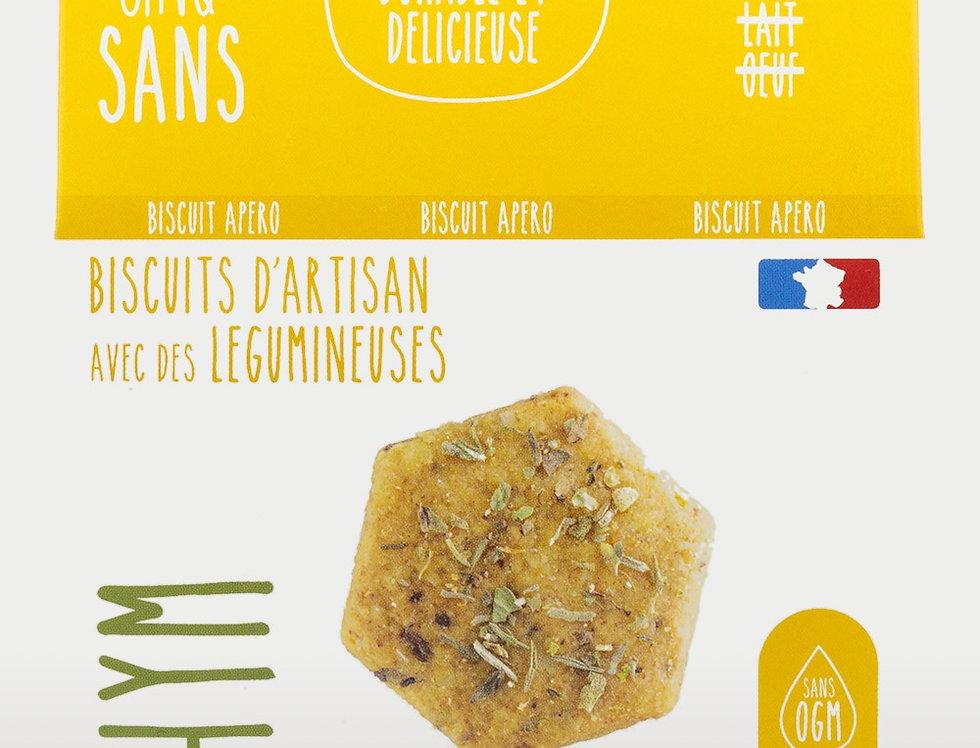 Biscuit Apéro Cèpe Thym - Cinq Sans - 100Gr