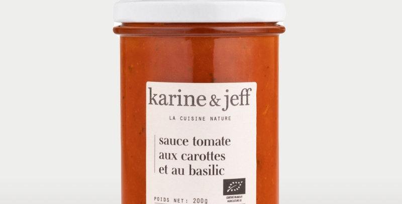 Sauce tomate aux carottes et basilic - Karine & Jeff  - 200Gr
