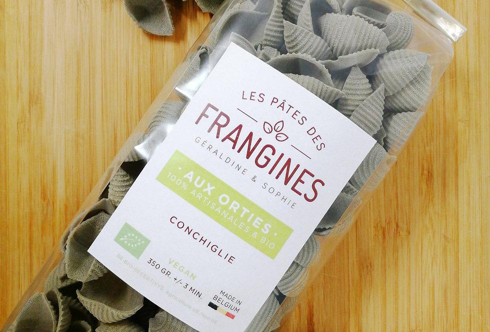 Pates FRANGINES aux Orties (vegan) - Coquillage - en moule de bronze - 350Gr