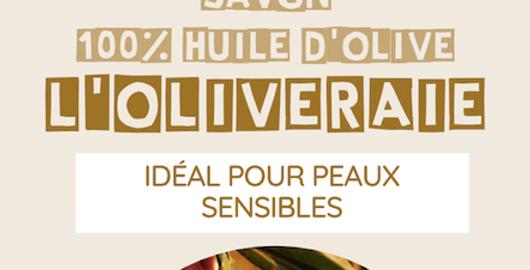 Savon « L'Oliveraie » 100% huile d'olive (Simple) - L'Arbre à Savon