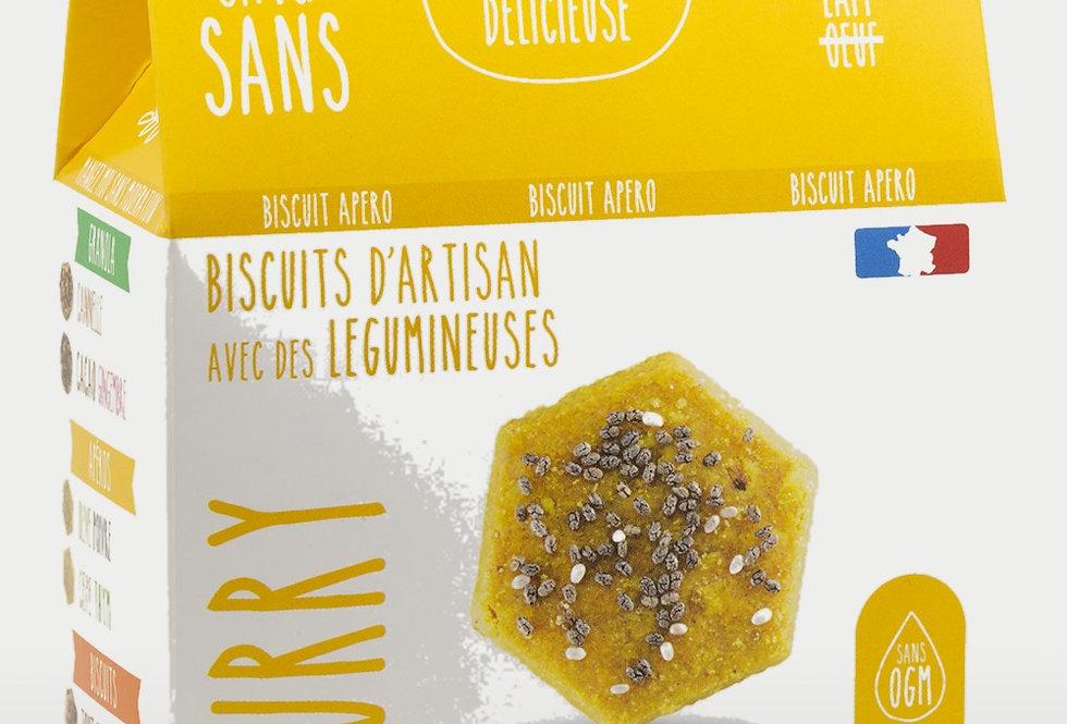 Biscuit Apéro Curry Gingembre - Cinq Sans - 100Gr