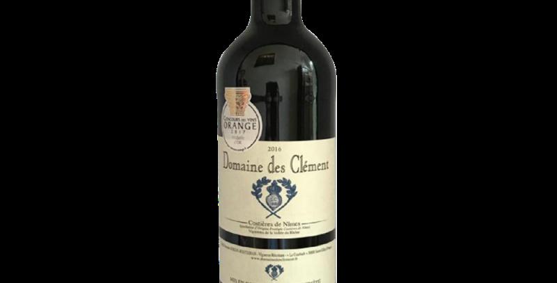 Vin Rouge - Costières de Nîmes 2017 Domaine des Clément