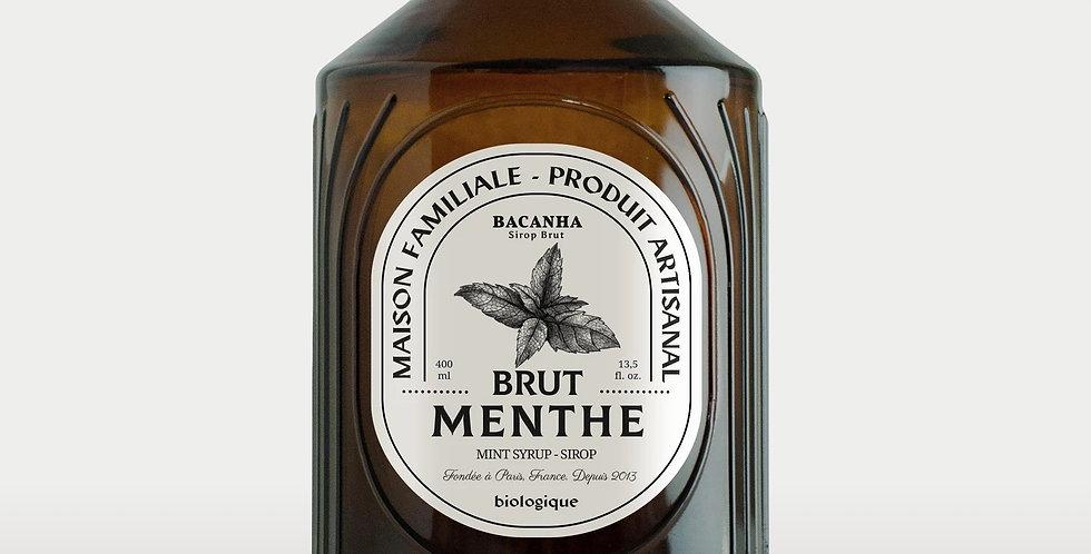 Sirop de Menthe Brut - Bio - 400 ml - Bacanha