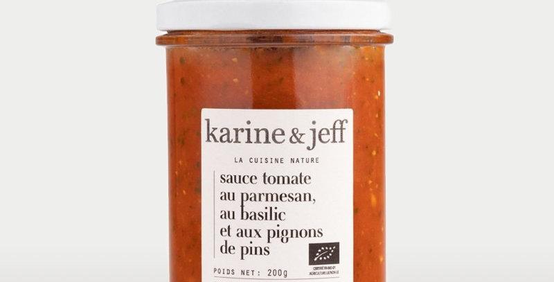 Sauce tomate, parmesan, basilic et pignons de pin - Karine & Jeff 200Gr