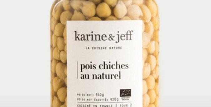 Pois chiches au naturel - Karine & Jeff  - 540Gr