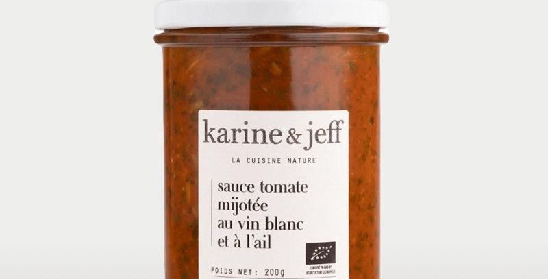 Sauce tomate mijotée au vin blanc et à l'ail - Karine & Jeff  - 200Gr