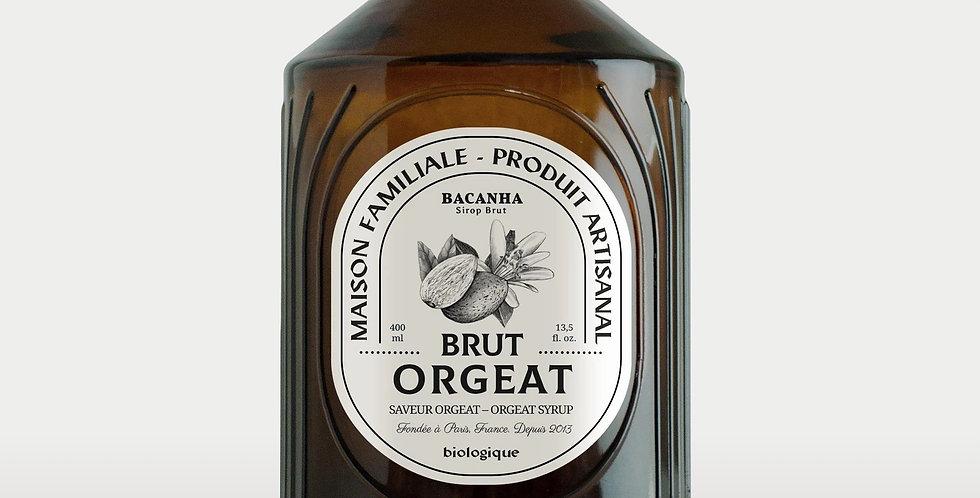 Sirop d'Orgeat brut - Bio - 400 ml - Bacanha