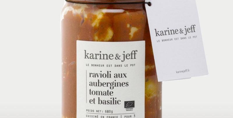 Ravioli aux aubergines, tomate et basilic - Karine & Jeff  - 680Gr