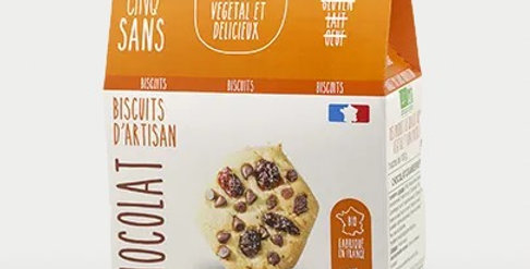 Biscuit Cranberries Chocolat - Cinq Sans - 100Gr