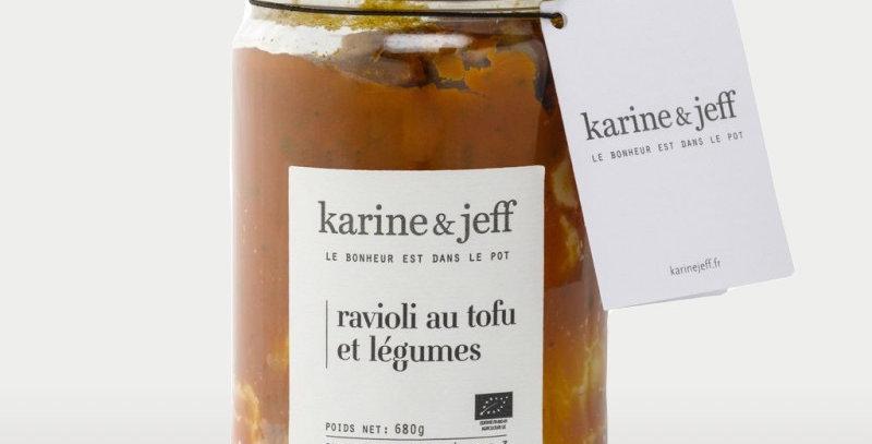 Ravioli au tofu et légumes - Karine Jeff  - 680Gr