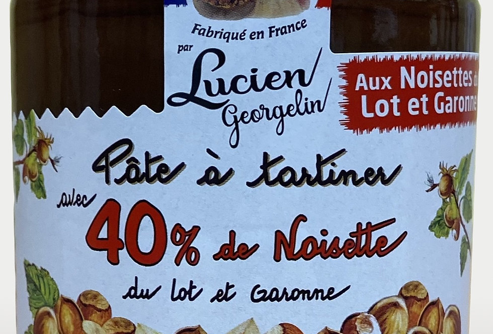 Pâte à tartiner aux noisettes du Lot-et-Garonne et cacao - 400g
