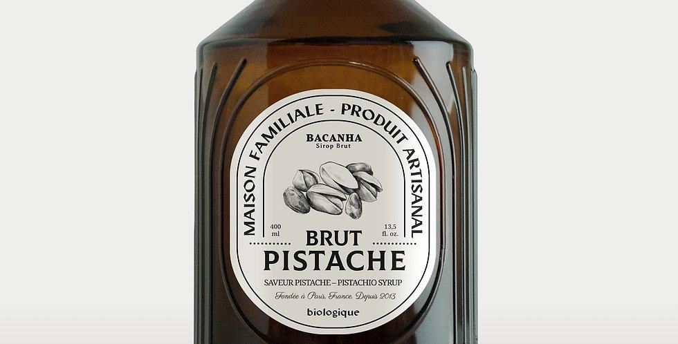 Sirop de Pistache Brut - Bio - 400 ml - Bacanha