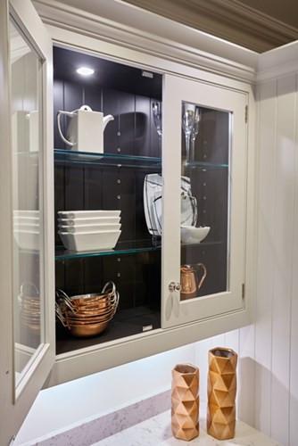 Inside wall cabinet spot lights