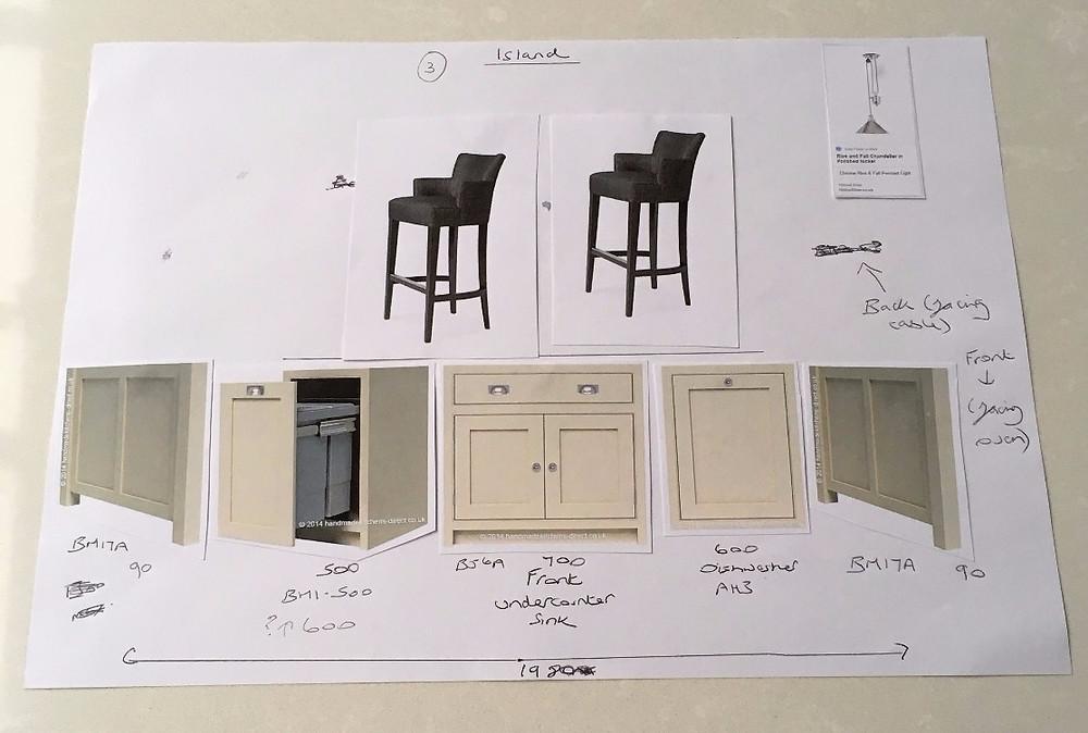 Designing a kitchen island