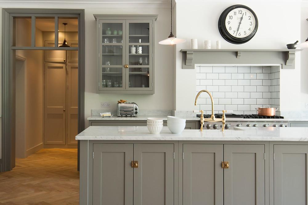 Shaker kitchen door flat panel no beading