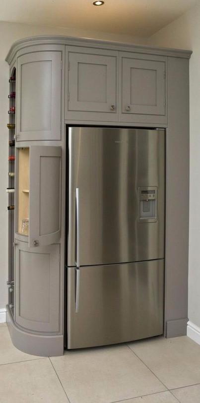 shaker single door american fridge freezer housing
