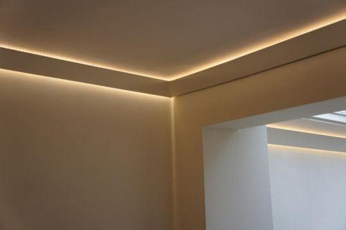 Washed LED ceiling light
