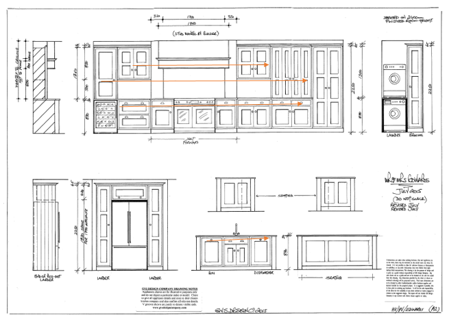 Symmetry and sight lines in kitchen design