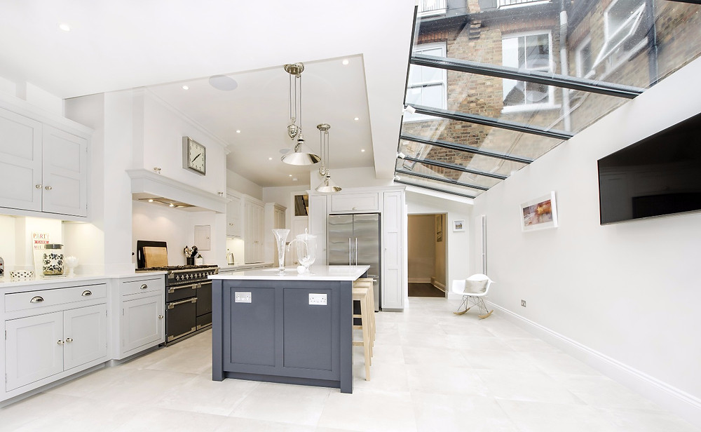 Layering lighting in kitchen