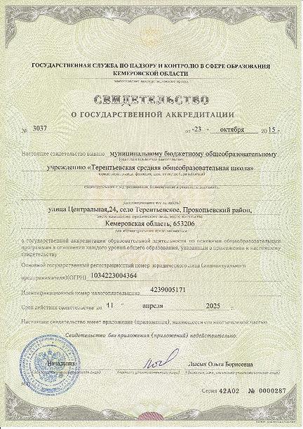 терентьевскя школа