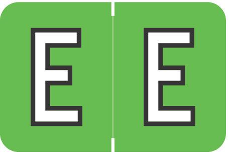 Alpha Letter E       Green (BRPK-E)