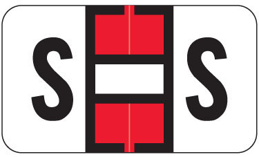 Alpha Labels S (JT3R) Red
