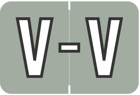 Alpha Letter V       Gray (BRPK-V)
