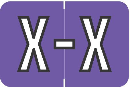 Alpha Letter X       Purple (BRPK-X)