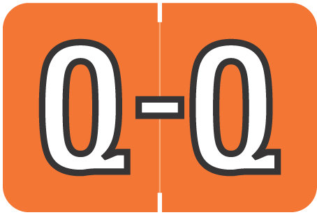 Alpha Letter Q       Orange (BRPK-Q)