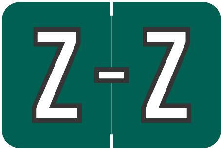 Alpha Letter Z       Dark Green (BRPK-Z)