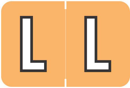 Alpha Letter L       Light Orange (BRPK-L)