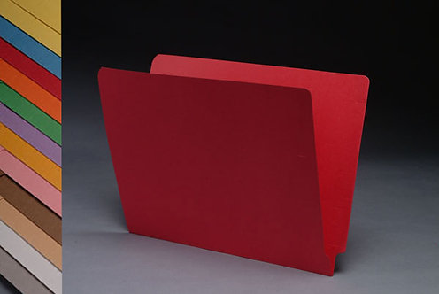 File Folders 1590 Red w/fast. in pos 1 & 3 (box of 50)