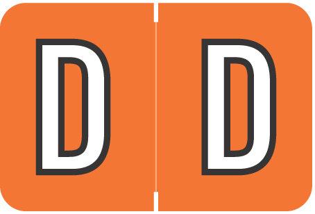 Alpha Letter D       Orange (BRPK-D)