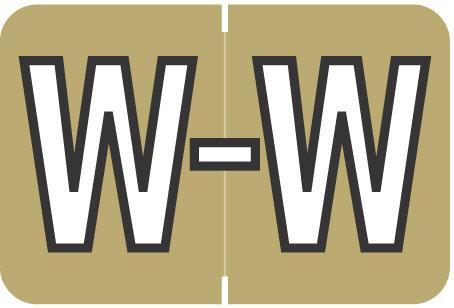 Alpha Letter W      Gold (BRPK-W)