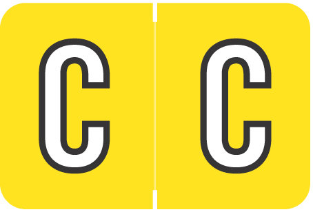 Alpha Letter C  Yellow (BRPK-C)