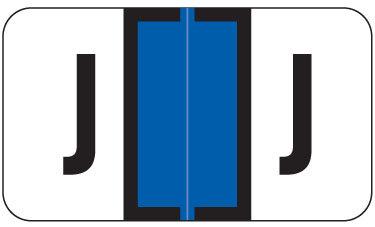 Alpha Labels J (JT3R) Blue