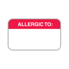 Allergic to stickers  (MAP1000)