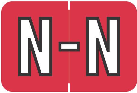 Alpha Letter N       Red (BRPK-N)
