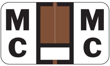 Alpha Labels Mc (JT3R) Brown