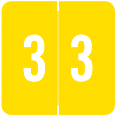 Numeric Label 3 AVNM-3 (500 Labels)