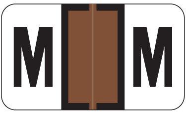 Alpha Labels M (JT3R) Brown