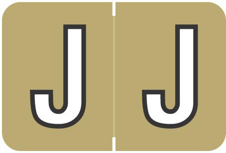 Alpha Letter J        Gold (BRPK-J)