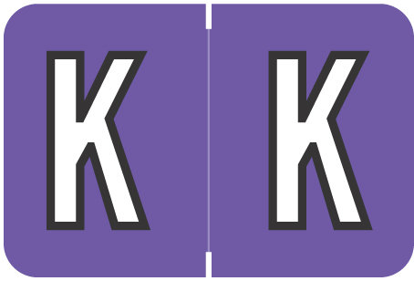 Alpha Letter K       Purple (BRPK-K)