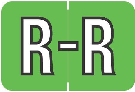 Alpha Letter R       Green (BRPK-R)