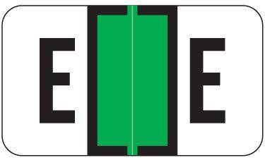 Alpha Labels E (JT3R) Green