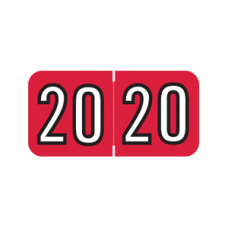 Year Labels 2020 Red (MS2020)