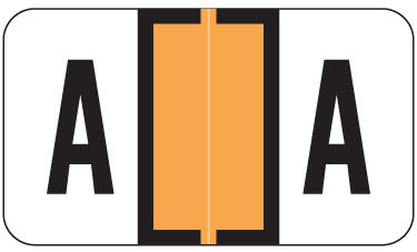 Alpha Labels A (JT3R) Orange