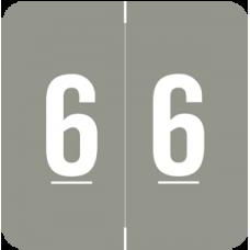 Numeric Label  AVNM-6  (500 Labels)