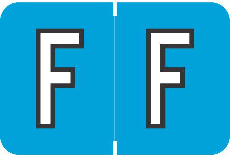 Alpha Letter F        Blue (BRPK-F)